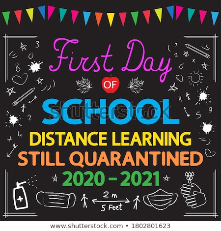 First Day of School Poster with Pupils Children Stock photo © robuart
