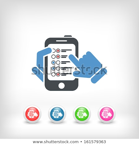 hand touch check list approved mark vector icon stock photo © pikepicture