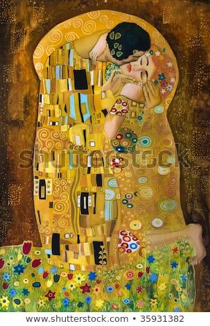 Fioletowy streszczenie sztuki jedwabiu tekstury fali Zdjęcia stock © Anneleven