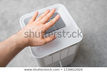 ventilação · limpador · verificar · poeira · homens · trabalhando - foto stock © Lopolo