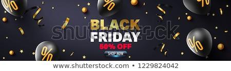 черная пятница продажи баннер празднования стиль Сток-фото © SArts