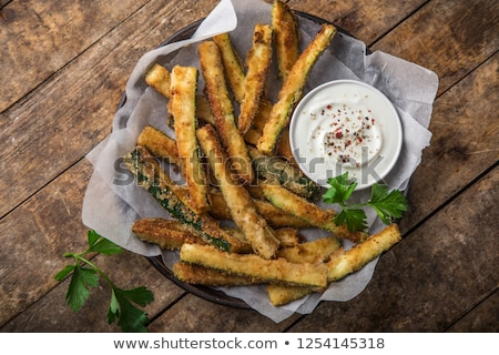 fried zucchini Stock photo © tycoon