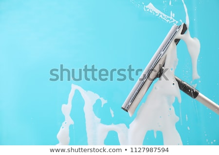 Cleaner Cleaning Soap Suds With Squeegee Wiper Stock photo © AndreyPopov