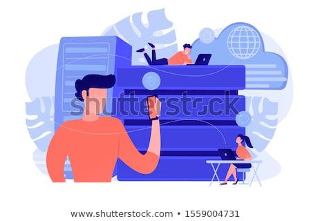 Servidor Internet usuarios grande datos Foto stock © RAStudio
