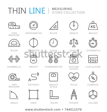 Stok fotoğraf: Round Clock Isolated Time Measurement Icon Vector