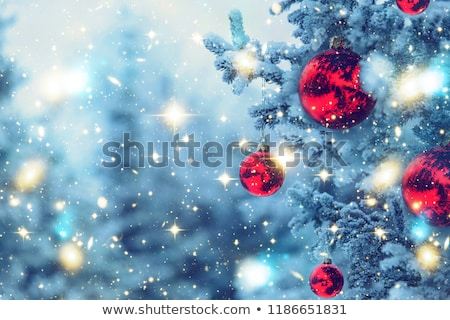 Winter abstract background, beautiful trees covered with snow, C Stock photo © Anneleven