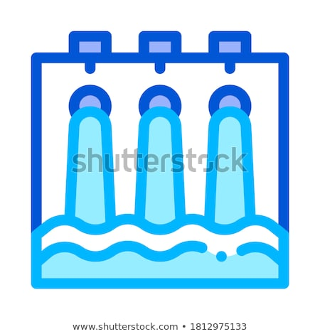 Water Hydraulic Engineering Station Vector Icon Stock photo © pikepicture