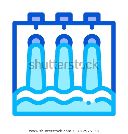 Wody hydrauliczny inżynierii stacja wektora ikona Zdjęcia stock © pikepicture