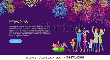 Vuurwerk vakantie viering avond nachtelijke hemel sterren Stockfoto © robuart