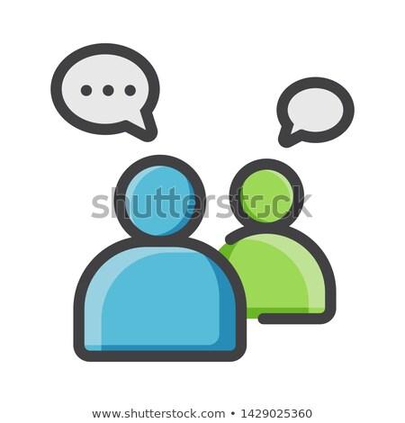 Business discussie vergadering icon vector schets Stockfoto © pikepicture