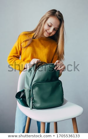 Girl with Rucksack, Female Teenager in Blue Jeans Stock photo © robuart