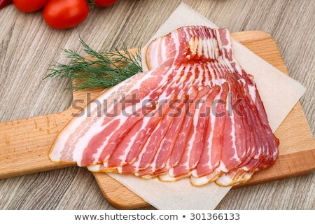 raw bacon Stock photo © tycoon