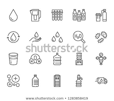 Pesticides Chemical Collection Icons Set Vector Stok fotoğraf © Nadiinko