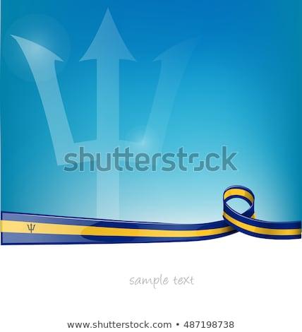 Барбадос флаг белый любви сердце дизайна Сток-фото © butenkow