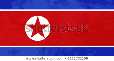 True proportions North Korea flag with texture Stock photo © evgeny89