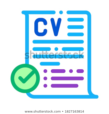 confirmed resume icon vector outline illustration Stock photo © pikepicture