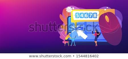 Klikken banner digitale marktplaats zoekmachine Stockfoto © RAStudio