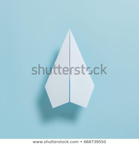 zielone · notatka · kart · wiszący · odizolowany · biały - zdjęcia stock © ansonstock