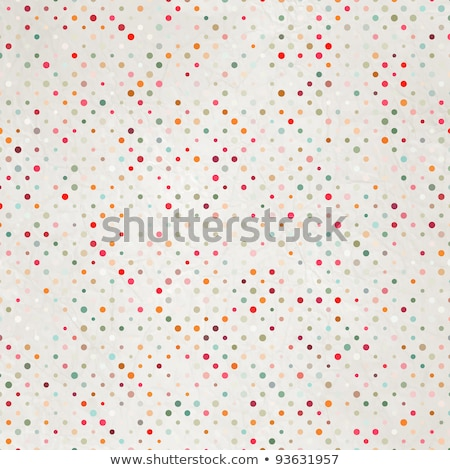 Vintage polka dot card template. EPS 8 Stock photo © beholdereye
