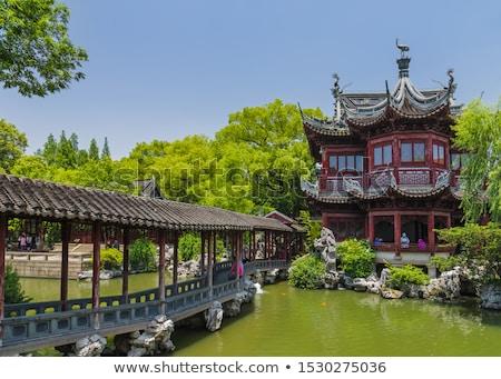 sculpture in the yuyuan garden stock photo © prill