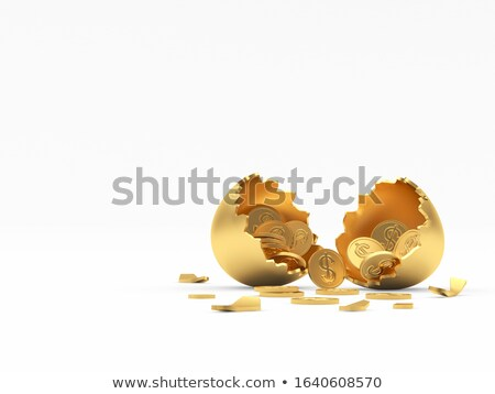Coins in broken golden eggshell Stock photo © williv