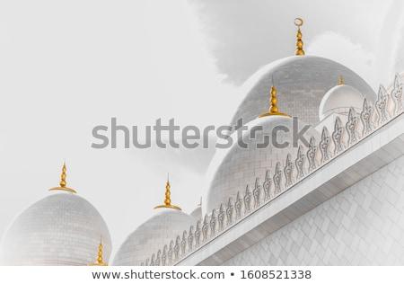 Абу-Даби · белый · мечети · закат · здании · каменные - Сток-фото © capturelight