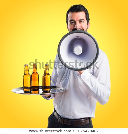 черным · человеком · холодно · пива · черный · афроамериканец · человека - Сток-фото © photography33