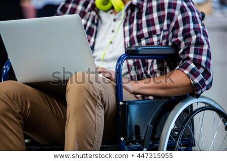женщины исполнительного коляске успех профессиональных сидят Сток-фото © photography33