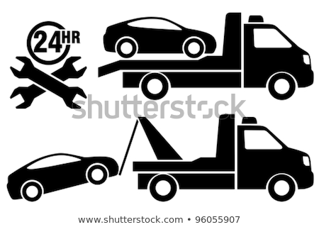 silhouette of a tow truck Stock photo © mayboro