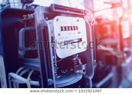 Electricians working on an electric meter Stock photo © photography33
