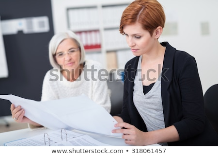 Old and young student worker Stock photo © photography33