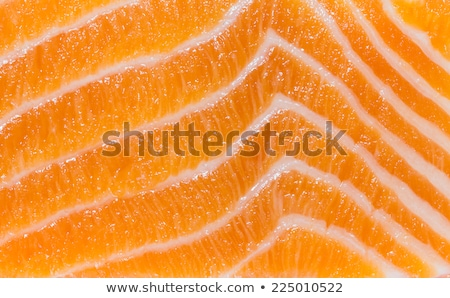 Stock photo: smoked fish slices close up