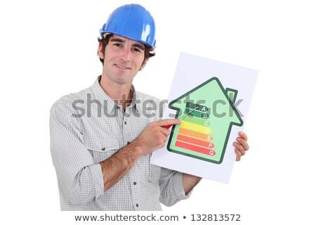 építész promótál energia megtakarított pénz üzlet ház Stock fotó © photography33