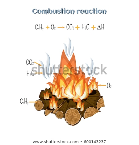 flaming color combustion Stock photo © prill