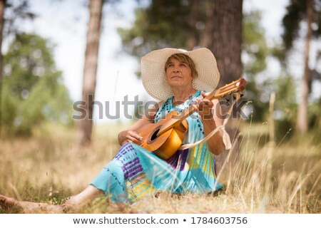 woman portrait in grass Stock photo © smithore