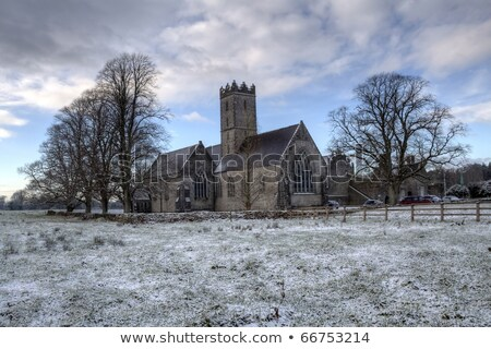 ruin in irish winter snow landscape Stock photo © morrbyte