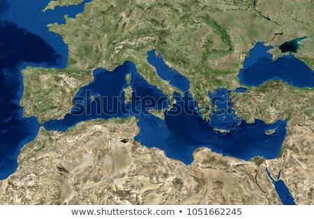 Mediterranean sea map Stock photo © ajlber