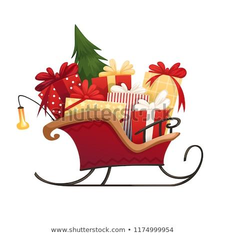 Christmas sanie prezenty odizolowany biały szczęśliwy Zdjęcia stock © balasoiu