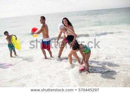 女性 インフレータブル ビーチボール 春 背景 ストックフォト © photography33