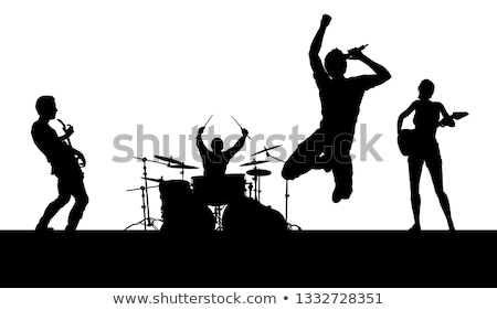 female band playing on stage stock photo © sumners
