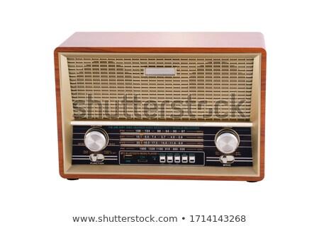 Vintage fashioned radio isolated Stock photo © ozaiachin