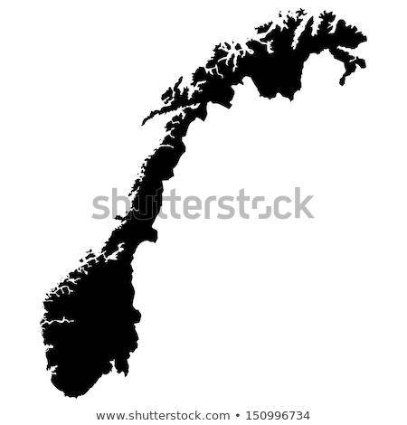 harita · Norveç · siyasi · birkaç · soyut · dünya - stok fotoğraf © Schwabenblitz