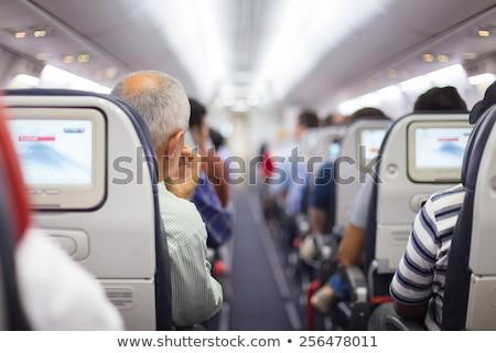 Légitársaság ablakok üzlet égbolt keret kék Stock fotó © IMaster