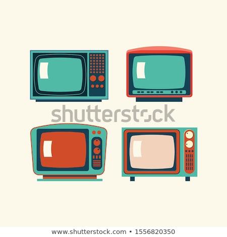 Foto stock: Old Plastic Tv