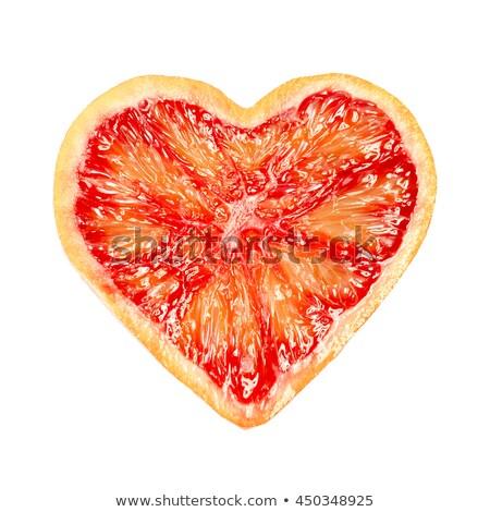 Szív grapefruit héj dekoráció valentin nap fa Stock fotó © Kotenko