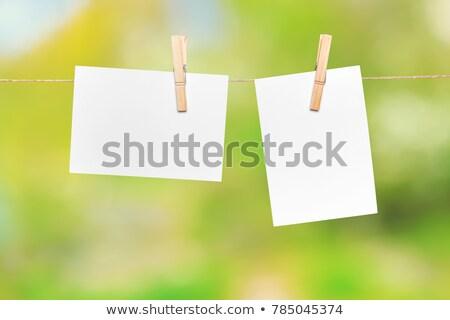 emlék · levélpapír · akasztás · kábel · fehér · iroda - stock fotó © artush