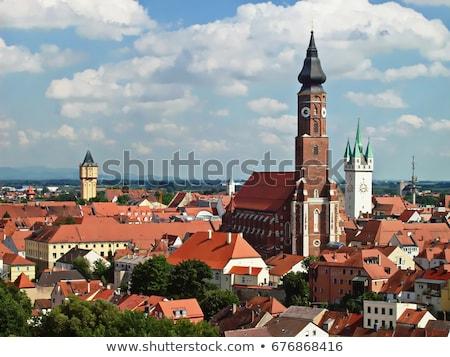 Traditional building in Straubing, Bavaria Stock photo © rbiedermann
