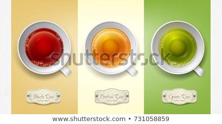 empty green tea cup stock photo © grazvydas