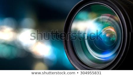 写真 カメラレンズ クローズアップ 表示 黒 技術 ストックフォト © Mikko
