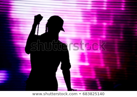 rapper · portret · muur · man · mode · graffiti - stockfoto © spectral
